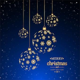 Wesołych świąt bożego narodzenia piłka tło dekoracyjne