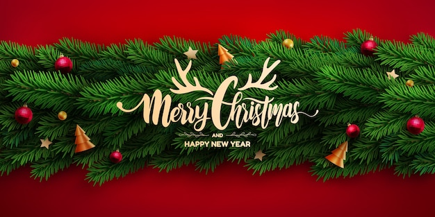 Wesołych świąt bożego narodzenia plakat lub baner