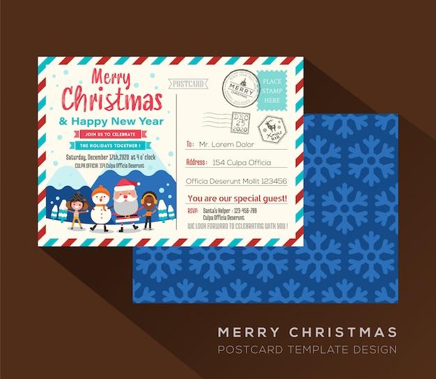 Wesołych świąt bożego narodzenia pocztówka