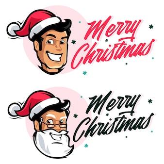 Wesołych świąt bożego narodzenia postać mikołaja