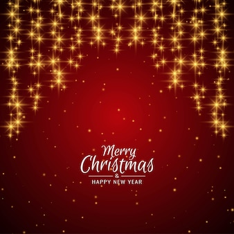 Wesołych świąt bożego narodzenia pozdrowienia czerwone tło z gwiazdami