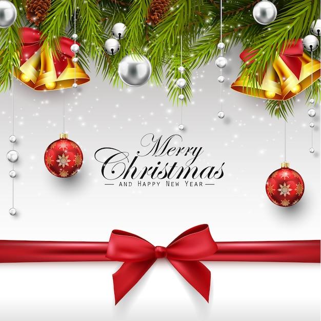 Wesołych świąt bożego narodzenia pozdrowienia z ozdób choinkowych
