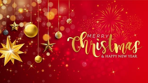 Wesołych świąt bożego narodzenia pozdrowienia z pięknym tle zimy i śniegu