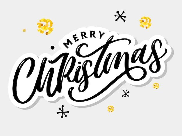 Wesołych świąt bożego narodzenia pozdrowienie kaligrafia czarny tekst