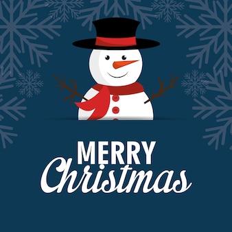 Wesołych świąt bożego narodzenia projekt karty z pozdrowieniami kreskówka
