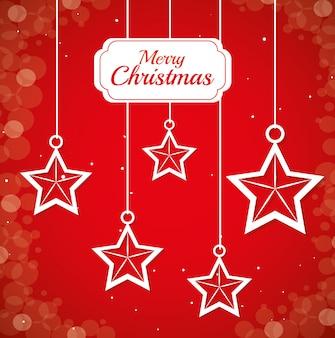 Wesołych świąt bożego narodzenia projekt karty
