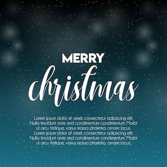 Wesołych świąt bożego narodzenia śnieg wzór tła