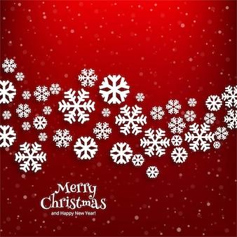 Wesołych świąt bożego narodzenia śnieżynka karty zimowe tło