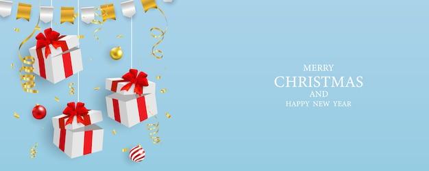 Wesołych świąt bożego narodzenia sprzedaż transparent