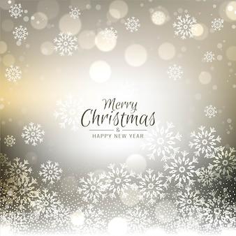 Wesołych świąt bożego narodzenia stylowe tło bokeh