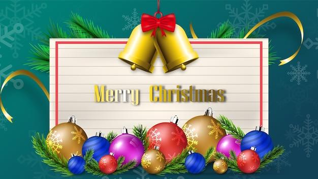 Wesołych świąt bożego narodzenia święto tła festiwalu. sezon na dekoracje bożonarodzeniowe
