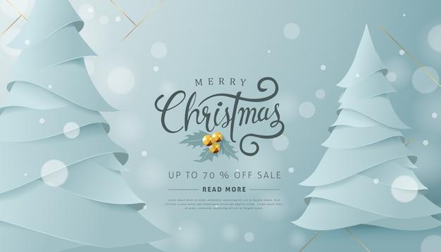 Wesołych świąt bożego narodzenia szablon tła sprzedaży
