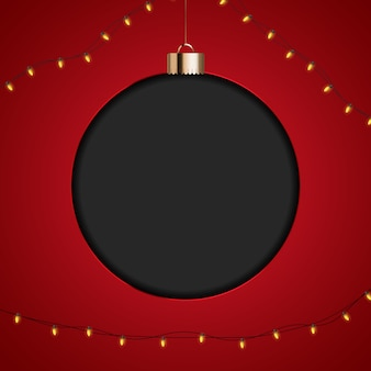 Wesołych świąt bożego narodzenia szablon transparent cacko