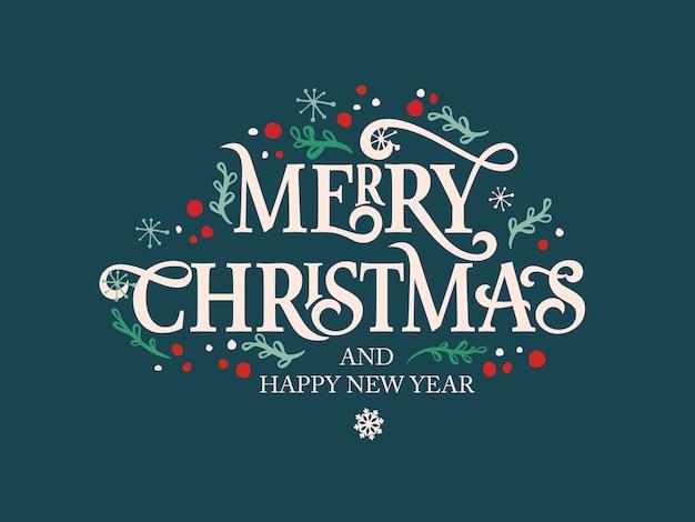 Wesołych świąt bożego narodzenia tekst kaligraficzna napis szablon projektu karty. kaligraficzny napis ręcznie.