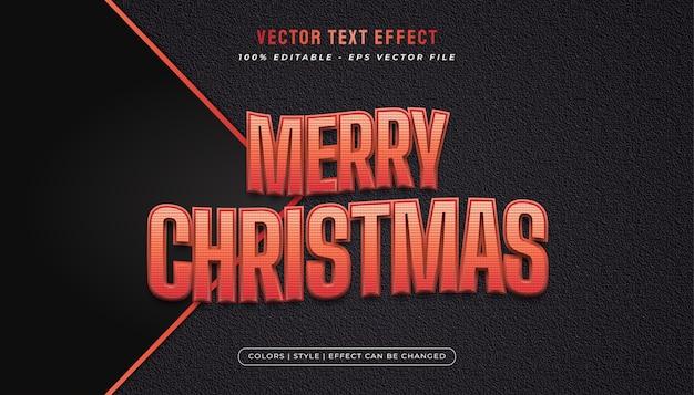 Wesołych świąt bożego narodzenia tekst w kolorze czerwonym z efektem tłoczenia