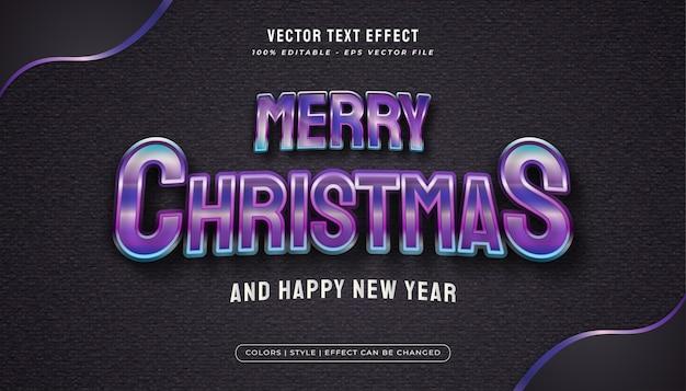Wesołych świąt bożego narodzenia tekst z kolorowym i błyszczącym stylem w realistycznej koncepcji