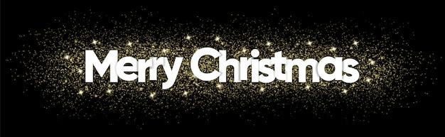 Wesołych świąt bożego narodzenia tekst z musujące dekoracji