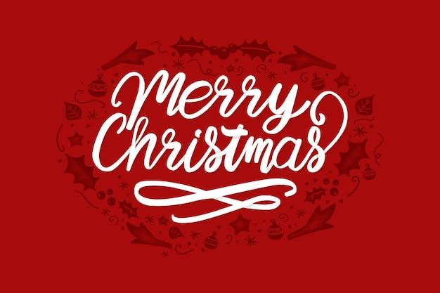 Wesołych świąt bożego narodzenia tło napis