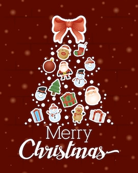 Wesołych świąt bożego narodzenia tło z choinki