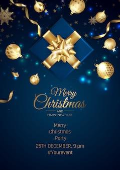 Wesołych świąt bożego narodzenia tło z elementem świątecznym.