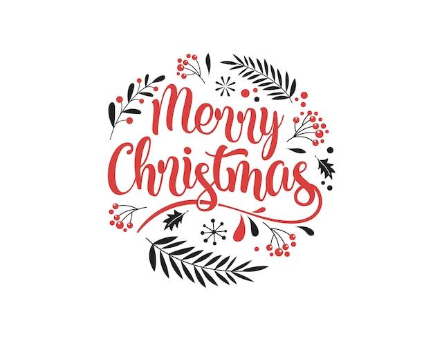 Wesołych świąt bożego narodzenia tło z typografią