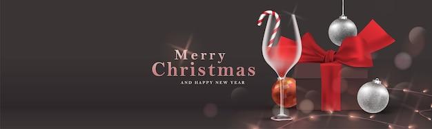 Wesołych świąt bożego narodzenia transparent. boże narodzenie w nocy uroczystość ilustracja tło