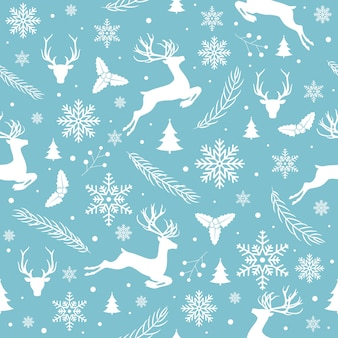 Wesołych świąt bożego narodzenia wzór bez szwu