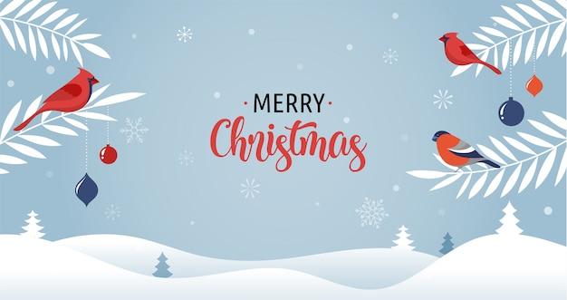 Wesołych świąt bożego narodzenia z choinki, wektor kartkę z życzeniami, plakat i baner