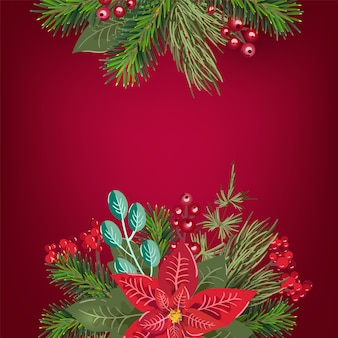 Wesołych świąt bożego narodzenia zaproszenie i kartkę z życzeniami szczęśliwego nowego roku