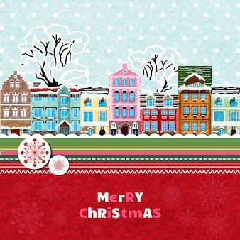 Wesołych świąt bożego narodzenia zaproszenie karta