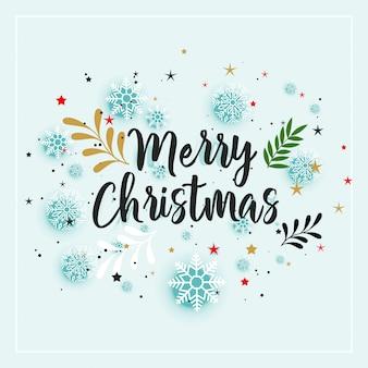Wesołych świąt bożego narodzenia zimą tle dekoracji