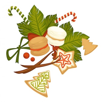 Wesołych świąt, ciasteczek i słodyczy na zimowe wakacje.