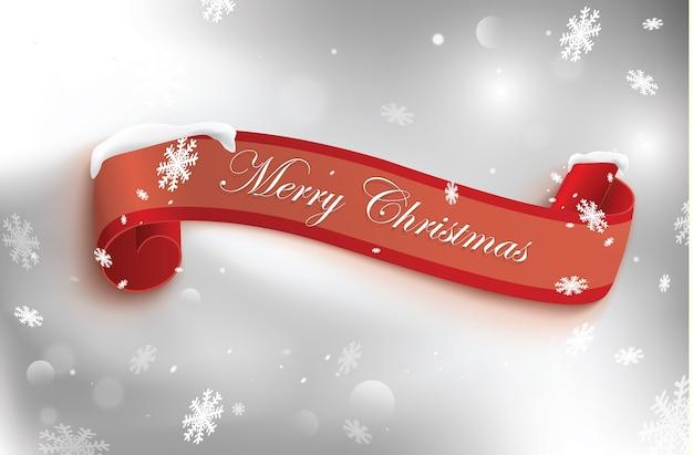 Wesołych świąt czerwony zwój