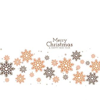 Wesołych świąt dekoracyjne płatki śniegu płynące