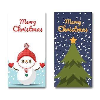 Wesołych świąt, dwa pół-stronne banery reklamowe.