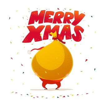 Wesołych świąt, gratulacje szczęśliwego nowego roku. . styl kreskówki. dobre na świąteczne pocztówki, kartki, reklamy, przezroczyste,.