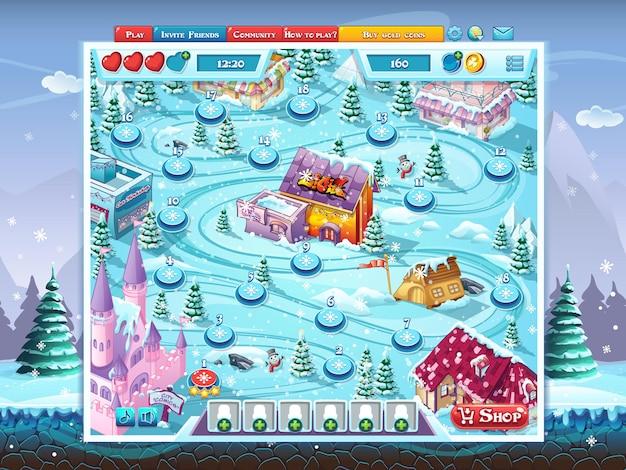 Wesołych świąt gui - okno mapy gry