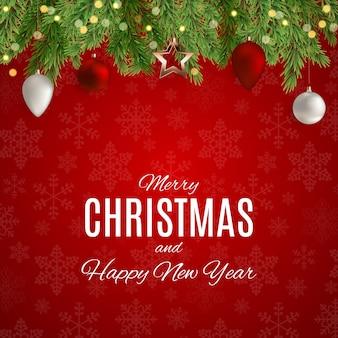 Wesołych świąt i nowego roku w tle
