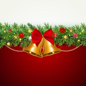 Wesołych świąt i nowego roku w tle.