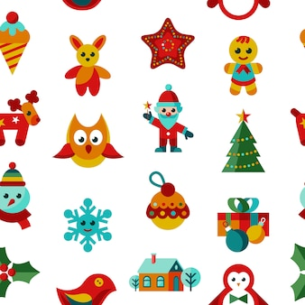 Wesołych świąt i nowy rok ikony kolekcja