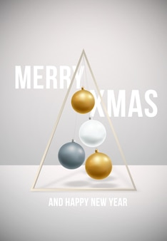 Wesołych świąt i szczęśliwego nowego plakatu