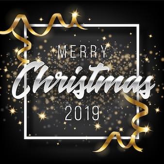 Wesołych świąt i szczęśliwego nowego roku 2019 kartkę z życzeniami tło.