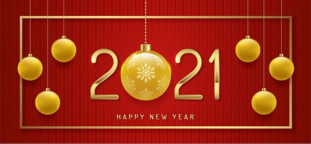 Wesołych świąt i szczęśliwego nowego roku 2021 tło