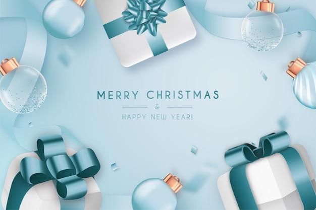 Wesołych świąt i szczęśliwego nowego roku 2022 ramka