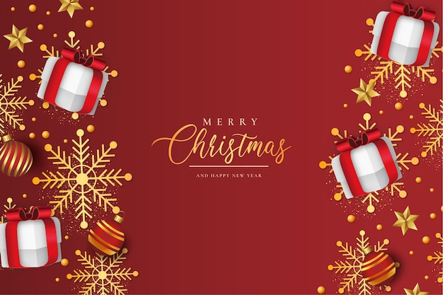 Wesołych świąt i szczęśliwego nowego roku 2022 tapeta