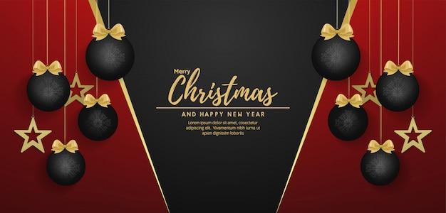 Wesołych świąt i szczęśliwego nowego roku banner wektor
