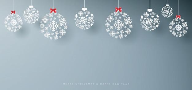 Wesołych świąt i szczęśliwego nowego roku banner.
