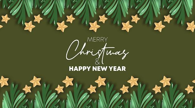 Wesołych świąt i szczęśliwego nowego roku kartkę z życzeniami wektor ilustracja