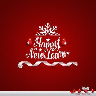 Wesołych świąt I Szczęśliwego Nowego Roku Kartkę Z życzeniami Premium Wektorów
