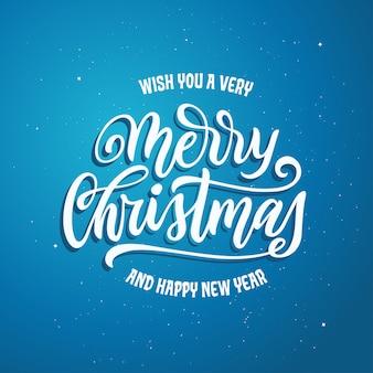 Wesołych świąt i szczęśliwego nowego roku napis szablon. kartkę z życzeniami lub zaproszenie